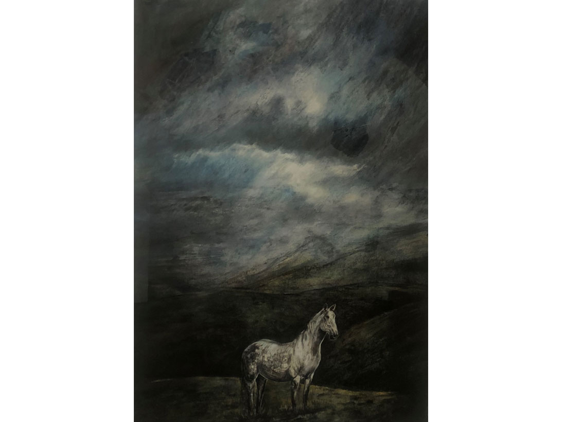 <p>Dark Horse<br>Johann Booyens  Monotype print </p>