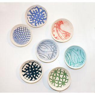 Tiny Coloured Bowls (lace bowls)
