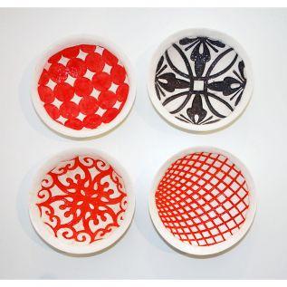 Large Coloured Bowls (lace bowls)